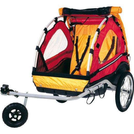 "Bika: rimorchio per bicicletta ""Kiddy Van 101"" per trasporto 2 bimbi"