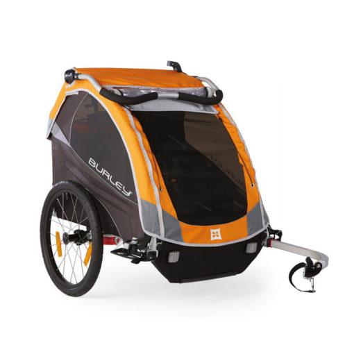 "Bika: rimorchio / stroller per bici ""D'Lite"" per trasporto 2 bimbi"