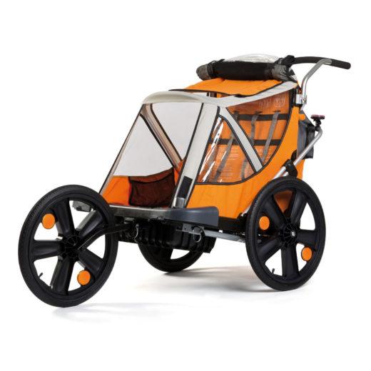 "Bika: Rimorchio / jogger per bici "" B-Travel "" trasporto 2 bimbi"