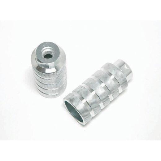 1.0141.0014.0000 - pedane alluminio silver perno Ø14