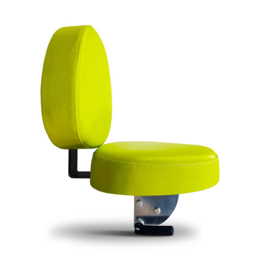 1.0153.4000.0304 - Sedile kiwi w=400 ecopelle verde con schienale