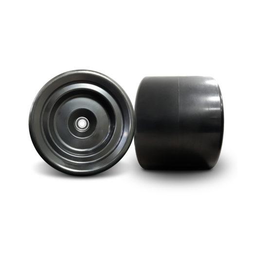 Coppia ruote tipo TOYS modello T250 prodotte in Italia da Bika, realizzate con una mescola che garantisce alte prestazioni sia in velocità che in derapata.