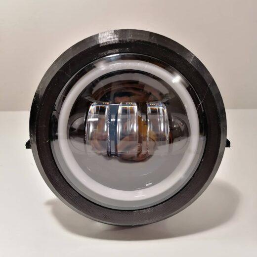 Fanale led per Piaggio Vespa PK s/xl Può essere installato su Vespa con accensione 6v o 12v, ed eventualmente con impianto a batteria.